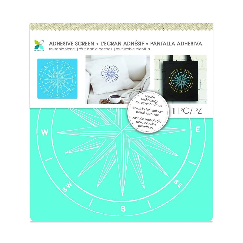 Momenta Compass Fabric Screen Stencil, Blue