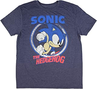 Sonic The Hedgehog Shirt Men's Navy Heather Graphic T-shirt
