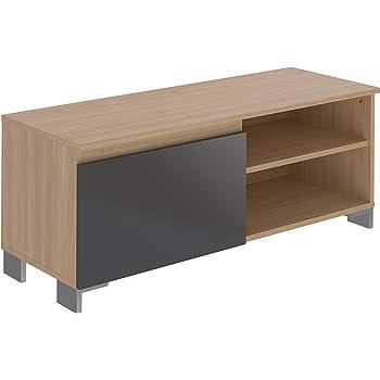 Marca Amazon - Movian Ba-se Contemporary - Mueble para TV de 1 puerta con 1 balda, 39,8 x 110 x 43,7 cm (gris): Amazon.es: Hogar