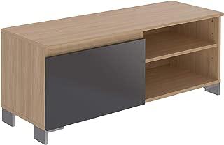 Movian Ba?se Contemporary - Mueble para TV de 1 puerta con 1 balda, 39,8 x 110 x 43,7 cm (gris)