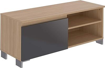 Marca Amazon -Movian Ba-se Contemporary - Mueble para TV de 1 puerta con 1 balda, 39,8 x 110 x 43,7 cm (gris)