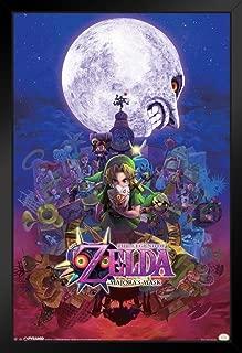 Pyramid America The Legend of Zelda Majoras Mask Nintendo Fantasy Video Game Series Link Princess Black Wood Framed Poster 14x20