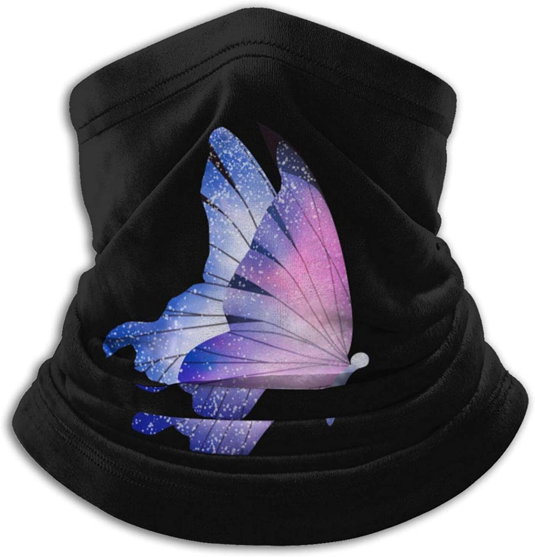 Winter Neck Gaiter Warmer Soft Face Mask Scarf Lovely Butterfly Outdoor Sports Neck Warmer Headwear for Men Women Black