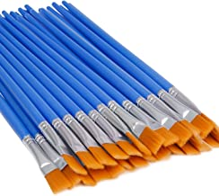UPINS 30 Pcs Flat Paint Brushes,Small Brush Bulk for Detail Painting