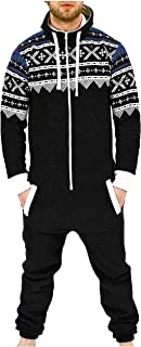 Men's Fashion Onesie Jumpsuit one Piece Non Footed Pajamas