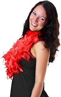 Fun Central AU146 6 inch Adult Feather Boa (Red)