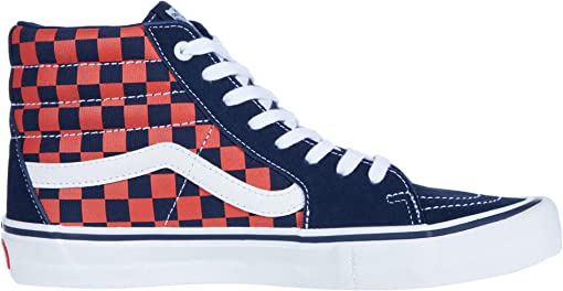 (Checkerboard) Navy/Orange
