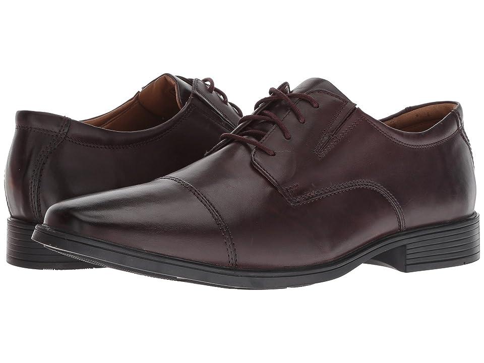 Clarks Tilden Cap (Wine Leather) Men