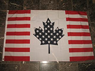 AES USA Canada Friendship Flag Canadian United States American Banner Pennant 3x5