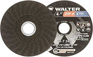 Walter ZIP+Xtra Cut-off Wheel [Pack of 25] - Type 1, Alumina Zirconia Reinforced Cutting Wheel with Ribbed Design, Round Hole