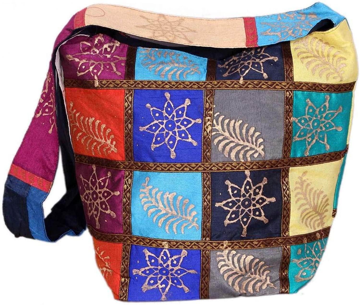 Indian Wholesale 50 pc lot Bulk Mandala Ombre Hippie Assorted Bag Tribal Boho Shoulder & Handbag Ethnic Cotton Messenger Carry Bag With Shoulder Strap Tote Purse For Ladies by Craft Place CAD-72