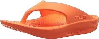 Flip Flop Soft Sandal Shoe Footwear by Telic, Sweet Tangerine, S