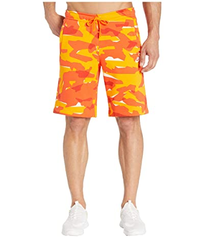 Nike NSW Club Camo BB Shorts (Orange Peel/Orange Peel/White) Men