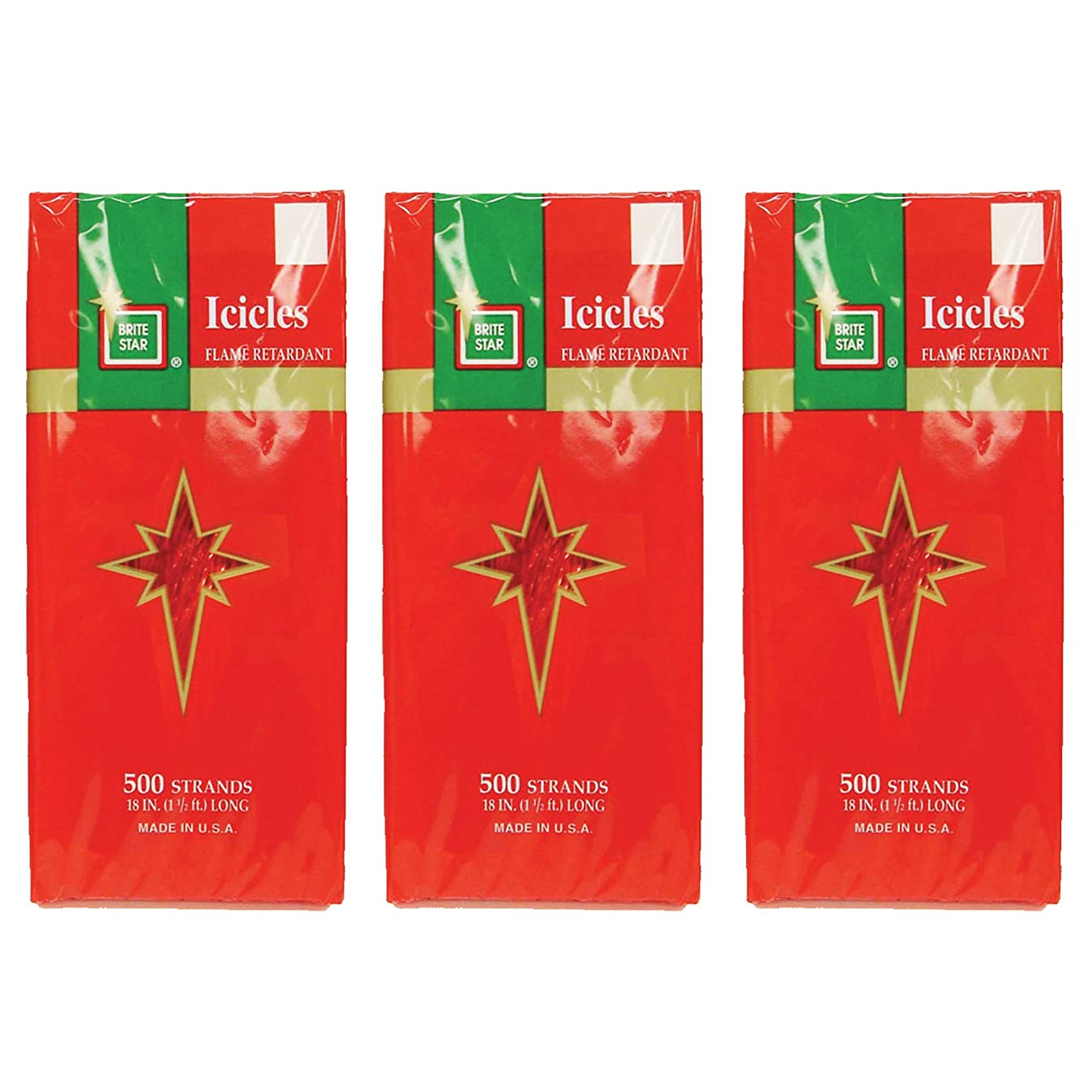 Brite Star Icicles Tinsel, Red