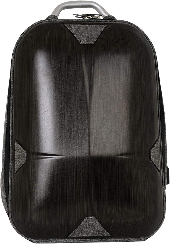 XIGE Wiederaufladbare Rucksack Outdoor reiserucksack grau schwarz wasserdicht Rucksack Mode Computer Tasche (Farbe   schwarz)