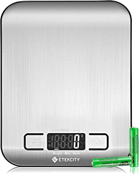 Explore weight scales for foods