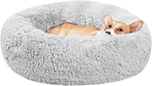 METCHIC Calming Dog Beds Large Dogs, Anxiety Dog Beds Medium Dogs, Pet Donut Bed Small Dogs and Cats