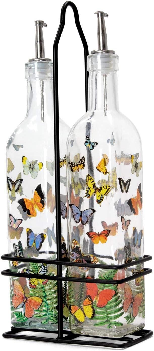 Michel Luxury National products Design Works Oil and Cruet Papillon Set Vinegar