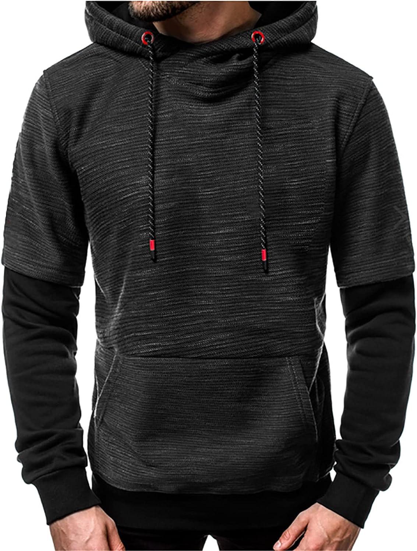 CNBPLS Men's Hoodies Sweatshirts,Pullover Slacks Jacket,Long Sleeve Sports Athletic Hoodied