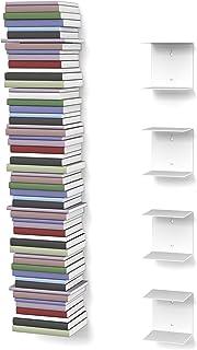 Estantería invisible con 8compartimentos (hasta 200cm de alto para libros apilables de hasta 22c...
