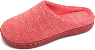 Women's Cotton Memory Foam Slip On House Slippers Breathable Comfort Clog Slippers Indoor Outdoor Non-Slip Sole