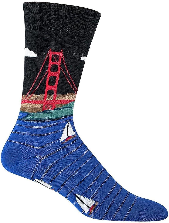 Socksmith Men's Socks Golden Gate Bridge Crew Black 1pair