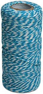 100 M/328 Feet Durable Cotton Baker's Twine String, Heavy Duty Packing Bakers Twine for Gardening Applications (Blue and White)