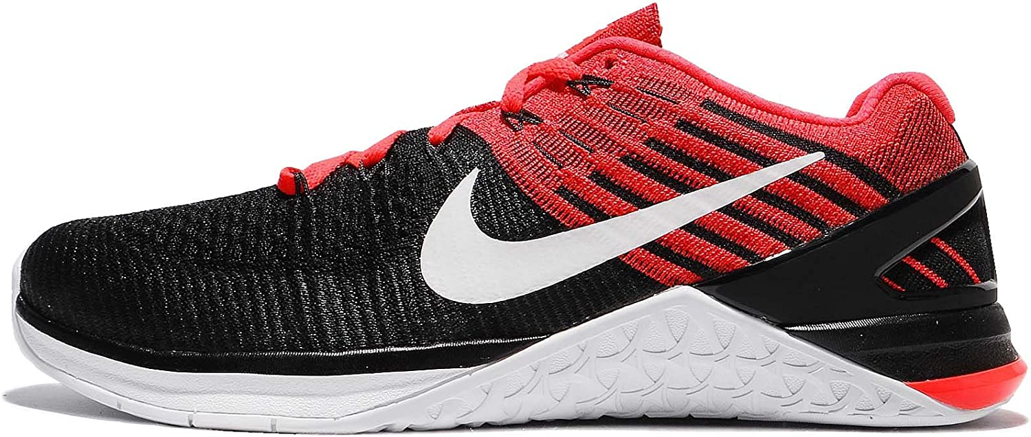 Nike Metcon Dsx Flyknit Size 11.5 Mens Cross Training Black White-Bright Crimson-Gym Red shoes