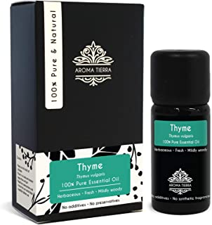 Thyme Essential Oil (Spain) - Aroma Tierra - 100% Pure & Natural - 10ml
