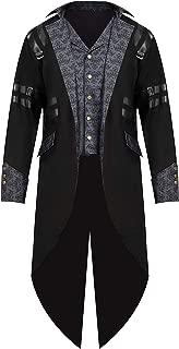 Gothic Steampunk Vintage Tailcoat Victorian Adventurer Halloween Costume for Men
