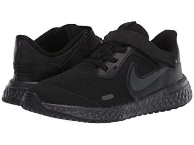 Nike Kids Flyease Revolution 5 (Little Kid) (Black/Black/Anthracite) Kid