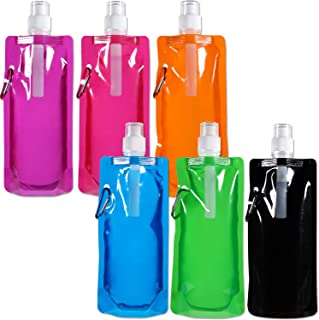 Collapsible Water Bottle Reusable Drinking Water Bottle with Clip for Biking, Hiking Travel, 6 Colors