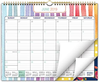 """2019-2020 Wall Calendar Academic Year- 12""""x15"""" - Colorful, Vibrant, Fun and Fashionable Monthly Calendar"""