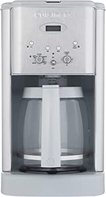 Cuisinart DCC-1200CGR Brew Central 12 Cup Programmable Coffeemaker, Light Grey (Renewed)