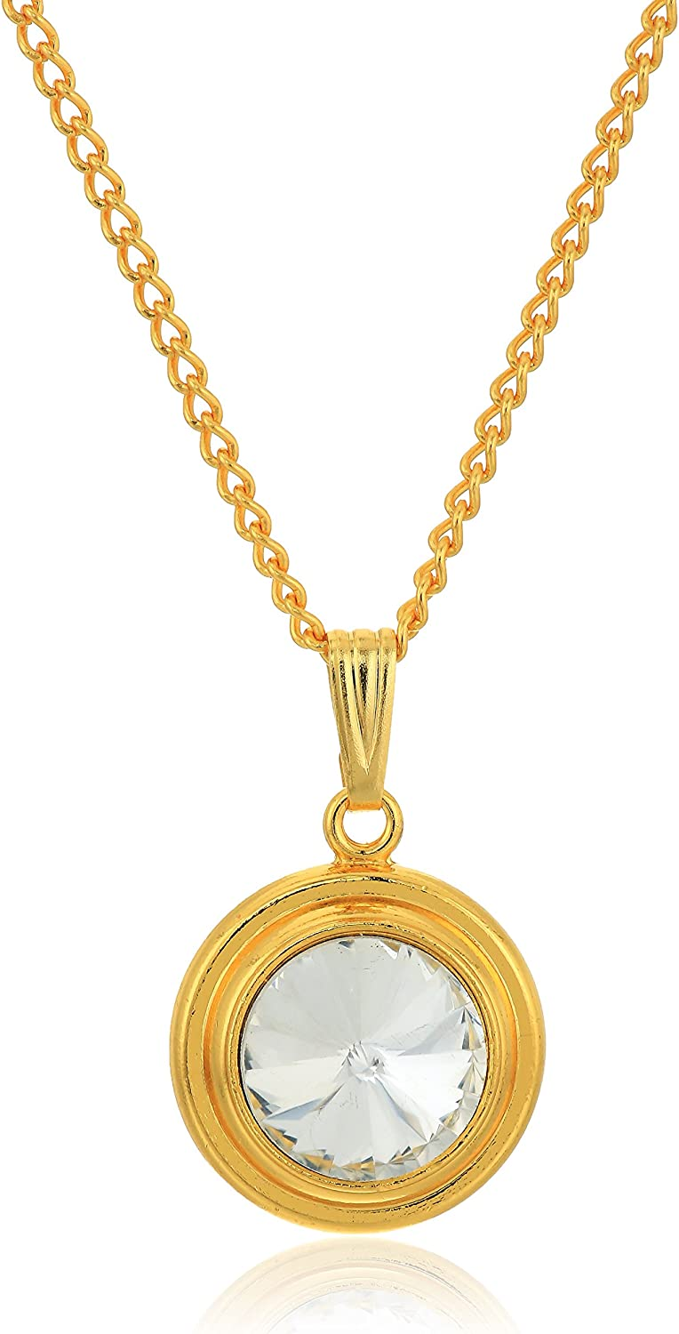Halos /& Glories Birth Month Crystal Pendant Necklace