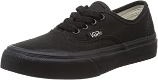 Vans Kids Authentic Black/Black Skate Shoe 13 US Kids