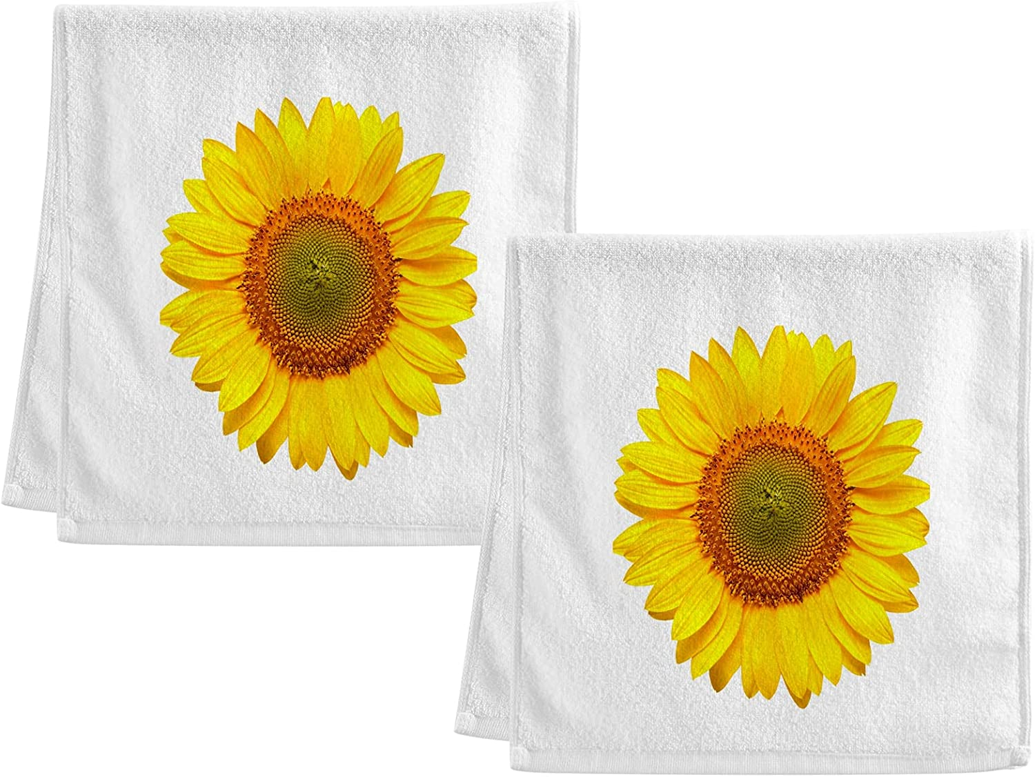 Our shop most popular ALAZA Yellow Max 77% OFF Sunflower Floral Cotton Hand 2 Towel of Hotel S Set