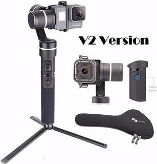 Feiyu G5salpicaduras de 3ejes Handheld Gimbal para GoPro Hero 6 5/4/3+/3, Yi Cam 4K, AEE acción cámaras de tamaño similar con EACHSHOT Mini trípode