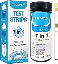 Toulifly 7 en 1 Tiras de Prueba de Piscina,Pool Test Strips,Tiras de Prueba de Agua,Test Strips Piscina,Papel de Prueba de Agua,para Piscina,SPA,Bañera de Hidromasaje (50 Piezas)