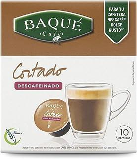 Cafés Baqué 10 Capsulas Compatibles Dolce Gusto Café Cortado ...