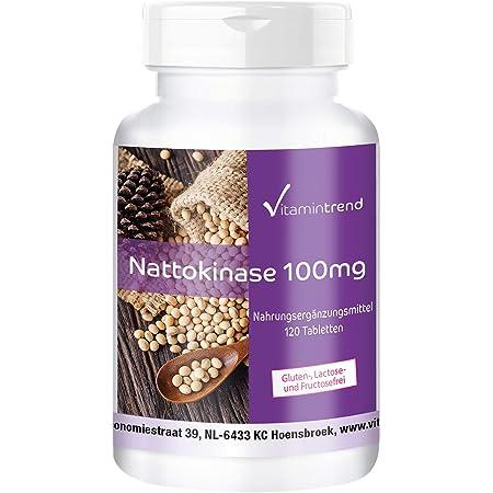 Nattokinase 100mg – Nattokinasa – 120 comprimidos