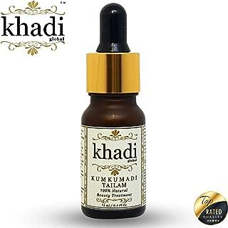 Khadi Global Kumkumadi Tailam Ayurvedic Facial Beauty Treatment Originated In India | Helps To Brighten Dull Skin, Repair Skin Pigmentation, Minimize Fine Lines, Wrinkles, Clear Bemishes 12ml/.4 fl.oz