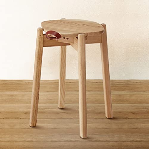 Dengzi Tabouret moderne minimaliste solide bois maison tabouret de maquillage tabouret tabouret créatif Tabouret rétro nordique tabouret tabouret de table design humain