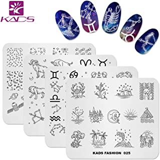 KADS Nail Art Stamp Plate Night Sky Series Nail stamping plate Template Image Plate Nail Art DIY Decoration Tool