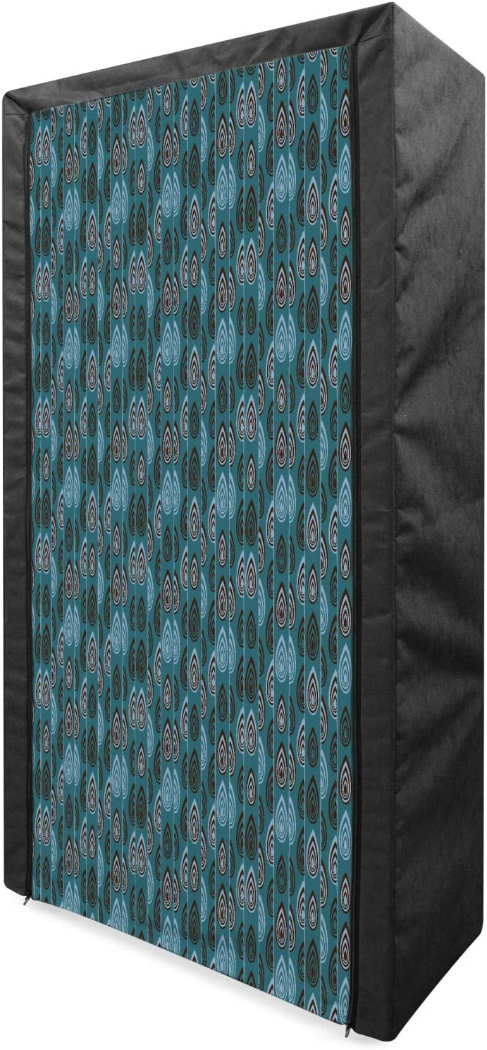 Ambesonne Ethnic Max 53% OFF Portable Fabric Wardrobe Hand Drawn Pa Striped Superior