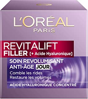 LOréal Paris - Revitalift - Filler - Soin Jour Revolumisant - Anti-Rides & Volume - Anti-Âge - Concentré en Acide Hyaluro...