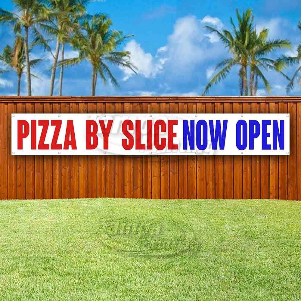 Pizzeria Now Open Extra Large 13 oz Banner Heavy-Duty Vinyl Single-Sided with Metal Grommets