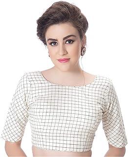 1a77d03f2d Rinkoo & Neckbook Womens Fancy Round Neck Cotton Back Full Zipper Elbow  Designer Sleeves Princess Cut