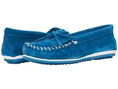 Minnetonka Kilty Plus (Peacock Blue Suede) Women