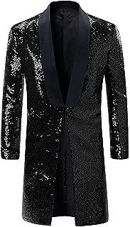 Men's Bling Sequins Tuxedo Jacket Coat Wedding Party Stage Show Suits